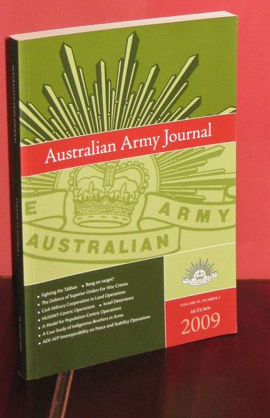 Image for Australian Army Journal - Volume VI, Number 1. Autumn 2009. : For the Profession of Arms