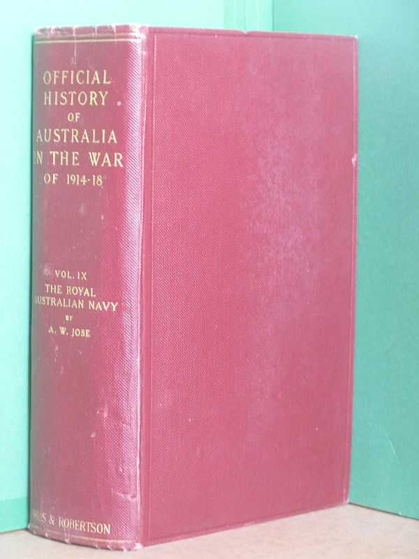 Image for The Official History of Australia in the War of 1914 -1918: Volume IX, The Royal Australian Navy 1914 - 1918