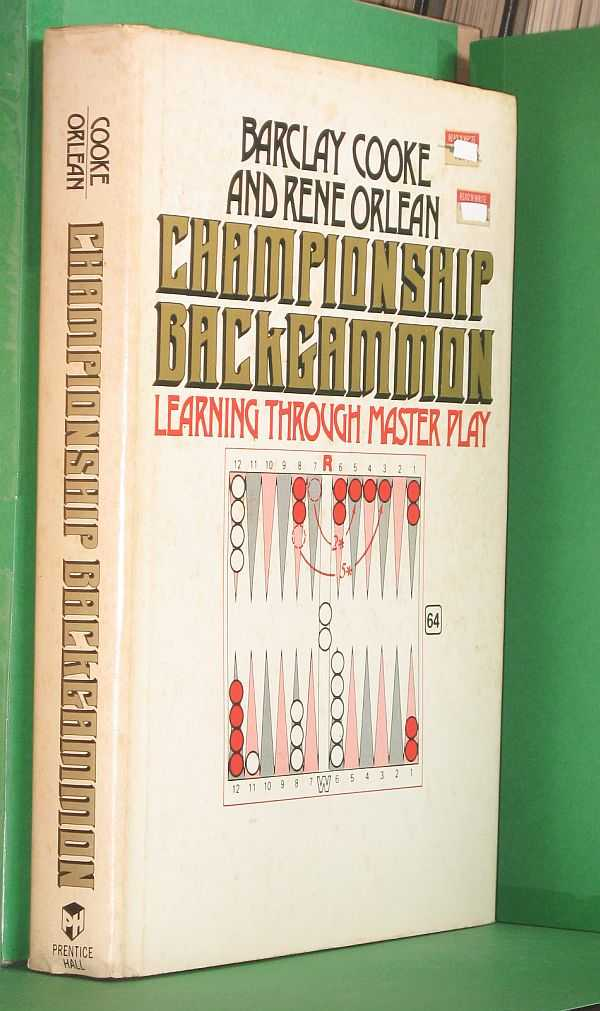 Image for Championship Backgammon: Learning Through Master Play