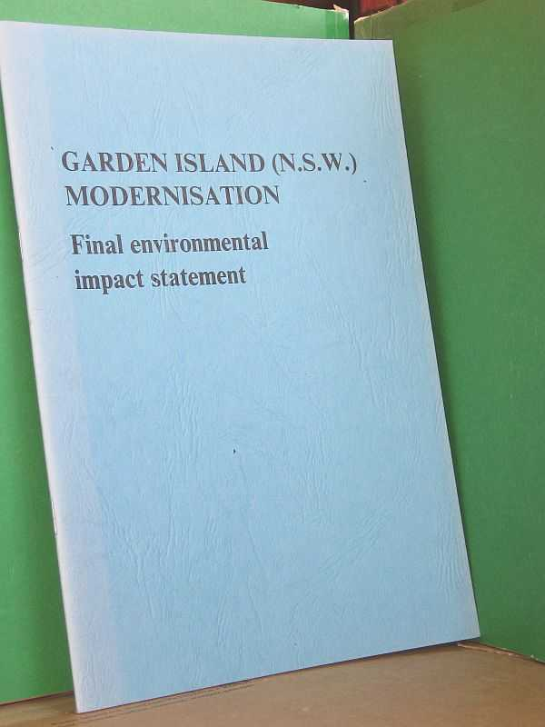 Image for Garden Island (N.S.W.) Modernisation: Final environmental impact statement