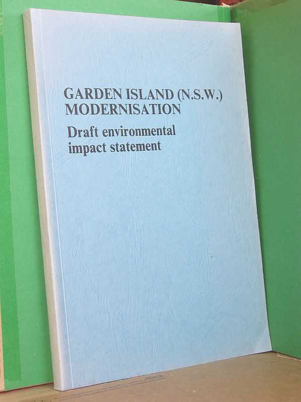 Image for Garden Island (N.S.W.) Modernisation: Draft environmental impact statement