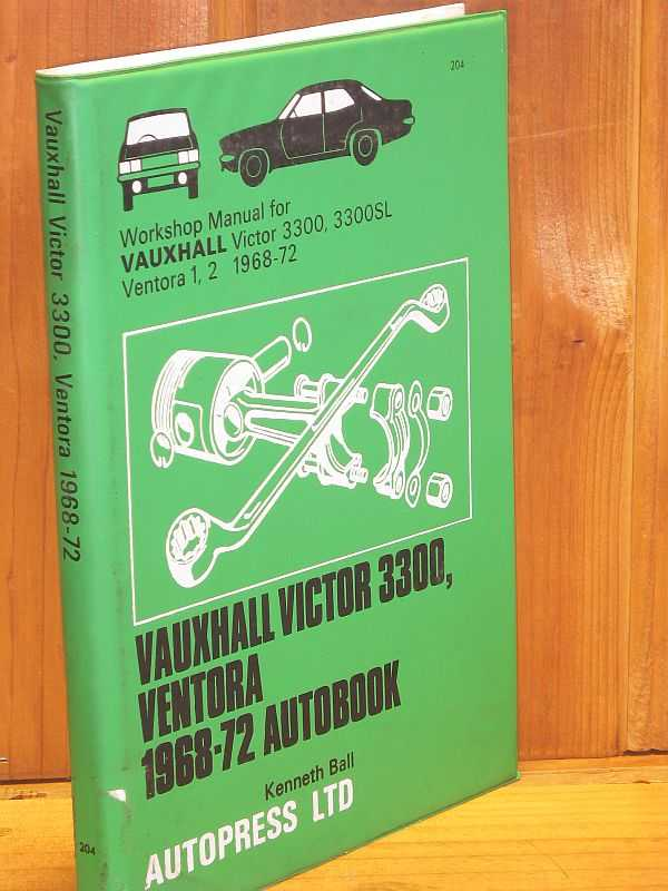 Image for Vauxhall Victor 3300, Ventora 1968-72 Autobook