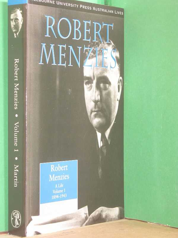 Image for Robert Menzies : A Life Volume 1 1894 - 1943