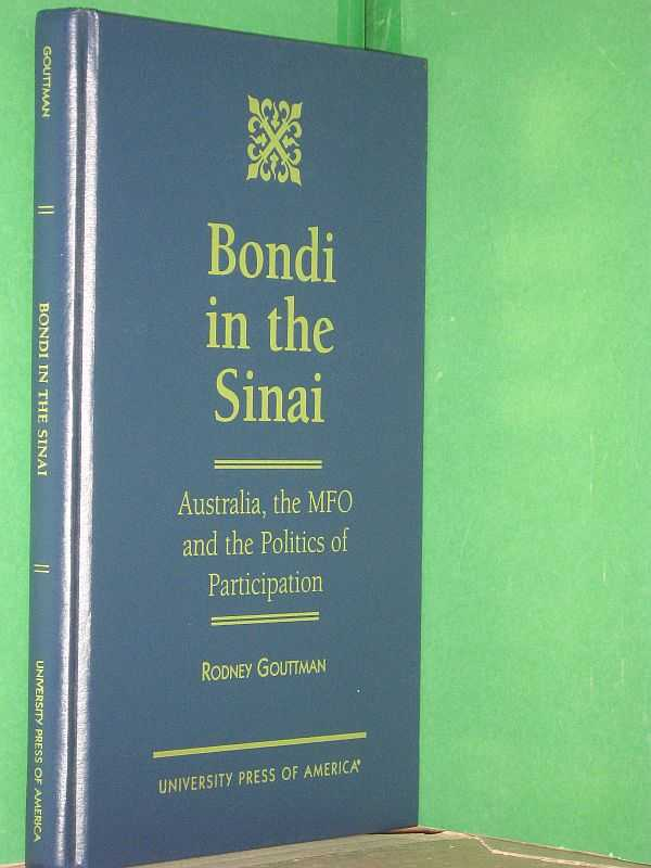 Image for Bondi in the Sinai: Australia, the MFO and the Politics of Participation