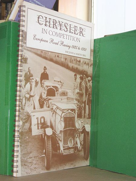 Image for Chrysler in Competition: European Road Racing 1925-1931
