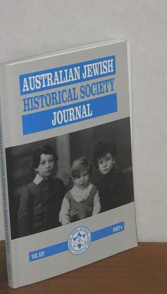 Image for Australian Jewish Historical Society Journal Vol XIV Part 4