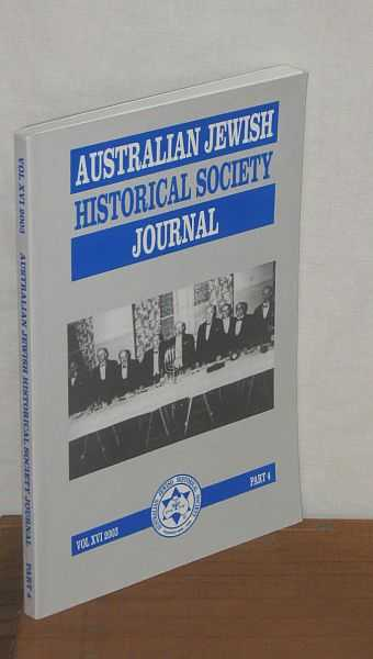 Image for Australian Jewish Historical Society Journal Vol XVI Part 4