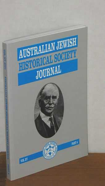 Image for Australian Jewish Historical Society Journal Vol XV Part 4